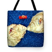 Sunbather On Oyster Shells Tote Bag