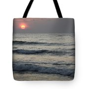 Sunrise Over Arabian Sea Hawf Protected Tote Bag