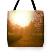 Sunrise Over Country Road, Oregon Tote Bag