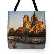 Sunrise Over Notre Dame Tote Bag