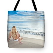 Sunrise Woman Tote Bag