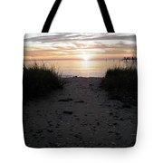 Sunset Through The Grass Cape Charles Virginia Tote Bag