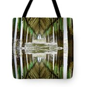 Surf City Pier Reflection Tote Bag
