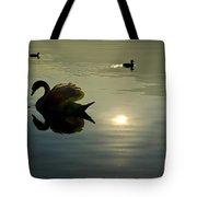 Swan And Ducks Tote Bag
