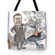 T. Roosevelt Cartoon Tote Bag by Granger