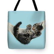 Tabby Kitten In Hammock Tote Bag
