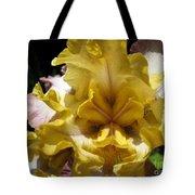 Tall Bearded Iris Named Butterfingers Tote Bag
