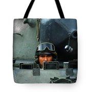 Tank Driver Of A Leopard 1a5 Mbt Tote Bag
