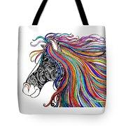 Tattooed Horse Tote Bag