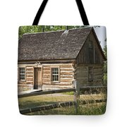 Teddy Roosevelt's Maltese Cross Log Cabin Tote Bag