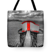 Tenby Lifeboat House Colour Pop Tote Bag