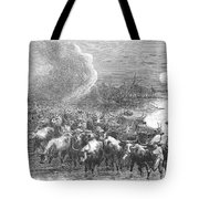 Texas: Cattle Drive, 1867 Tote Bag