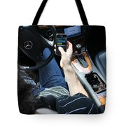 Texting And Driving Tote Bag
