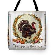 Thanksgiving Card, 1910 Tote Bag