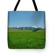 The Crazy Mountains Tote Bag