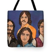 The Fab Four Beatles  Tote Bag