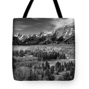 The Grand Tetons And The Snake River Tote Bag