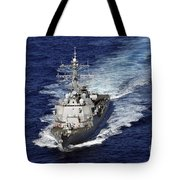 The Guided Missile Destroyer Uss Nitze Tote Bag