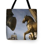 The Horses On The Basilica San Marcos Tote Bag