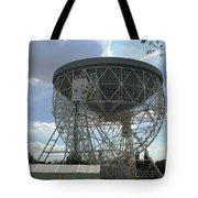 The Lovell Telescope At Jodrell Bank Tote Bag