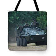 The Pandur Recce Vehicle In Use Tote Bag