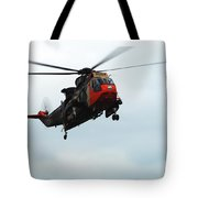 The Sea King Helicopter In Use Tote Bag