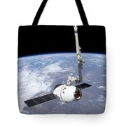 The Spacex Dragon Cargo Craft Tote Bag