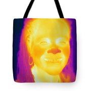 Thermogram Of A Woman Tote Bag