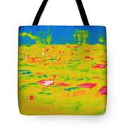 Thermogram Of Cars In A Parking Lot Tote Bag