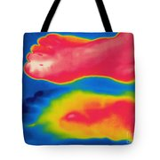 Thermogram Of Circulation In Feet Tote Bag