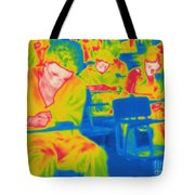 Thermogram Of Students In A Lecture Tote Bag