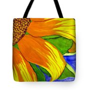 This Is No Subdued Sunflower Tote Bag