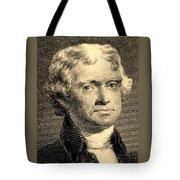 Thomas Jefferson In Sepia Tote Bag