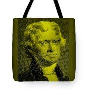 Thomas Jefferson In Yellow Tote Bag