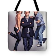 Three Fashionably Dressed Young People Tote Bag