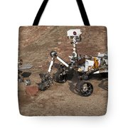 Three Generations Of Mars Rovers Tote Bag