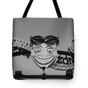 Tillie's Scream Zone In Black And White Tote Bag