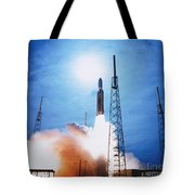 Titan Iv Rocket Tote Bag