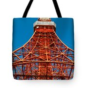 Tokyo Tower Faces Blue Sky Tote Bag