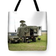 Transmission Troops Of The Belgian Army Tote Bag by Luc De Jaeger