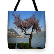 Tree And Mountain Tote Bag