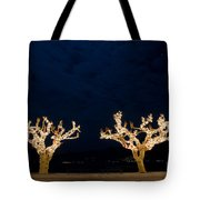 Trees With Lights Tote Bag