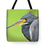 Tricolor Heron Portrait Tote Bag