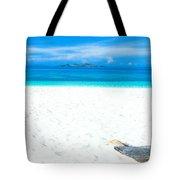 Tropical Beach Panorama Tote Bag