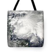 Tropical Storm Ida In The Caribbean Sea Tote Bag