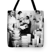 Tupperware Party, 1950s Tote Bag