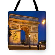Twilight At Arc De Triomphe Tote Bag