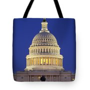 Twilight Over Us Capitol Tote Bag