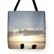 Two Friends Enjoy The Sunset Tote Bag