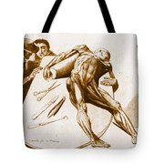 Two Gentlemen Contemplating A Cadaver Tote Bag by Science Source